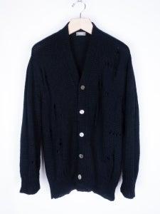 Image of Comme des Garcons Homme - Destroyed Wool Cardigan