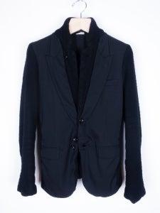 Image of Comme des Garcons Homme Plus - FW09 Boiled Wool Trompe L'oeil Blazer