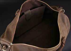 Image of Men's Handmade Vintage Leather Duffle Bag / Travel Bag / Luggage / Sport Bag / Weekend Bag (N66-3
