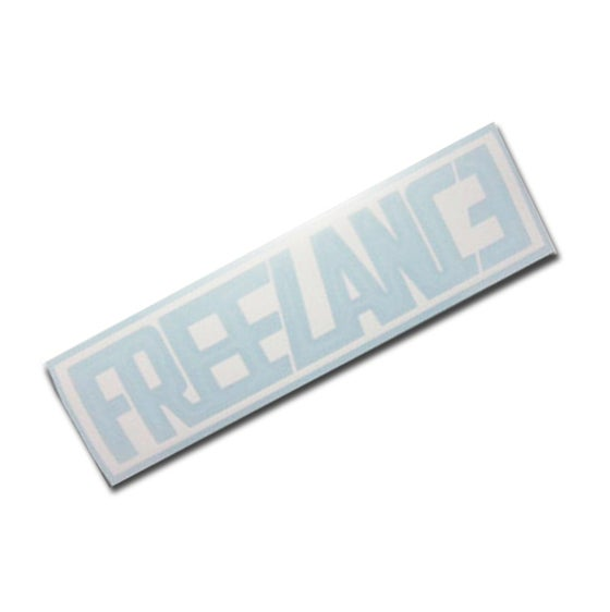 Image of CLEAN LOGO VINYL STICKER - White