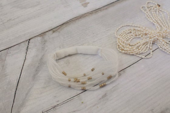 Image of White mohair headband