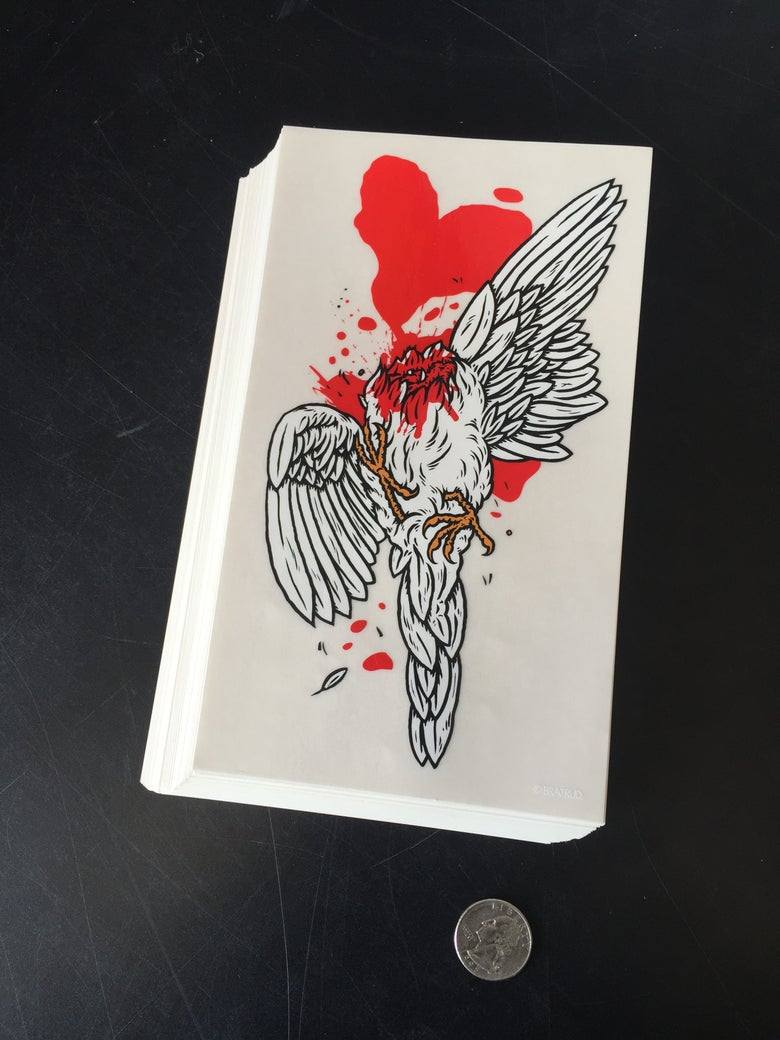 Image of Headless Dove sticker