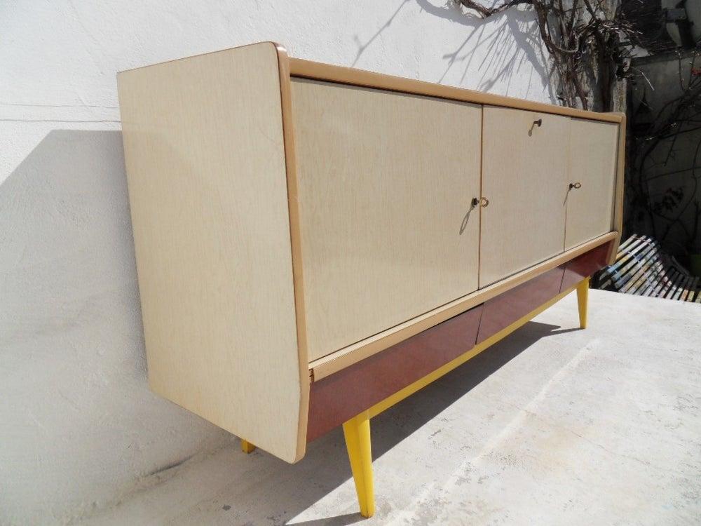 enfilade vintage en formica fibresendeco vannerie artisanale mobilier vintage. Black Bedroom Furniture Sets. Home Design Ideas