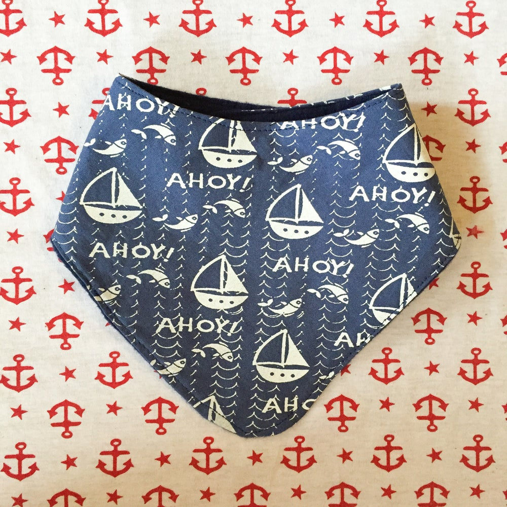 Image of Nautical Neckerchief- Ahoy print