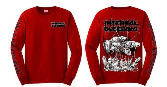 Image of Internal Bleeding - Long Island Death Metal Red Longsleeve