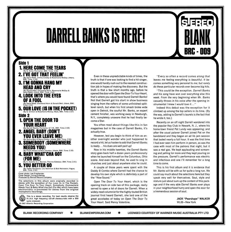 Image of Darrell Banks Is Here !