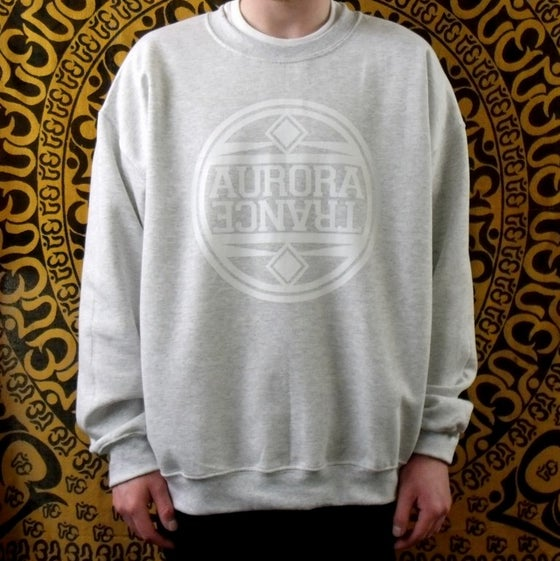 Image of Grey white logo sweatshirt