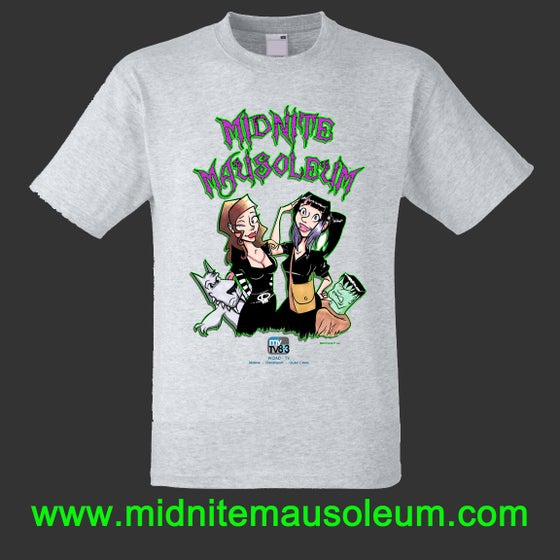 "Image of Midnite Mausoleum""Cartoon Design"" Shirt"