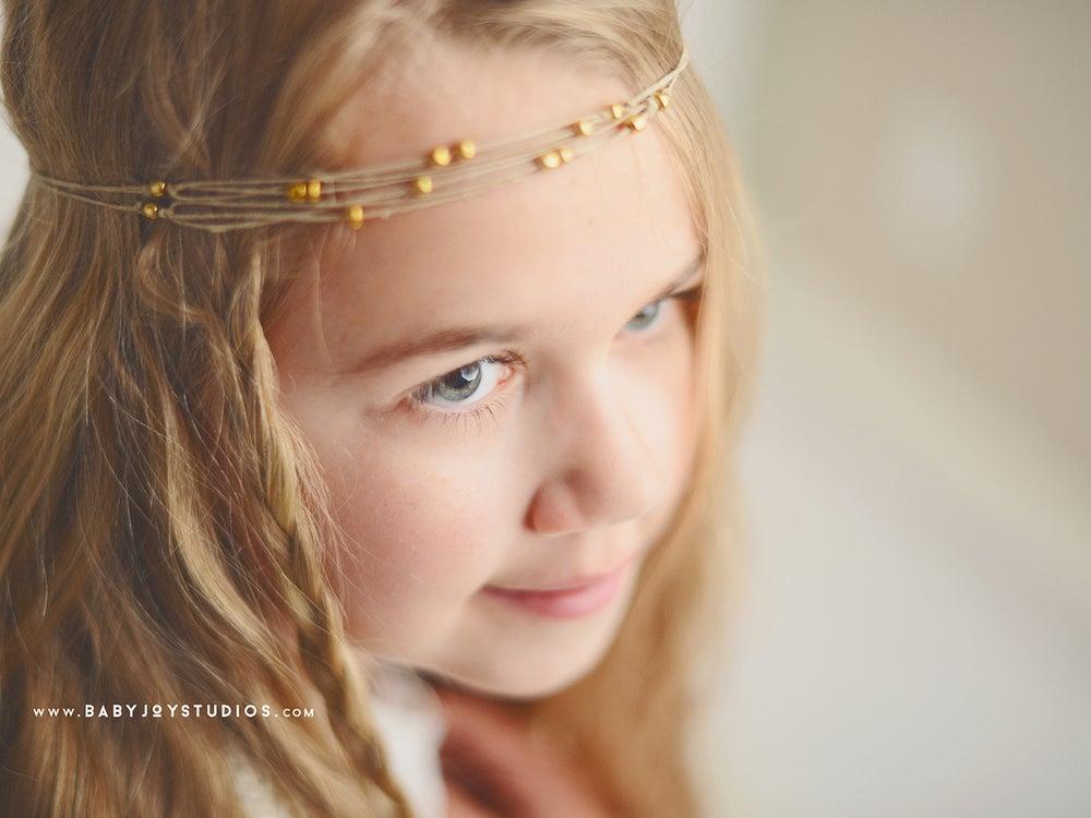 Image of NEW Boho Chic natural headband | {Clarity} hemp tieback