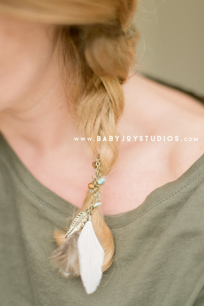 Image of Boho Feather Hair Pin , Clip | {the Chic}