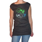 Image of Neon Skulls T-Dress