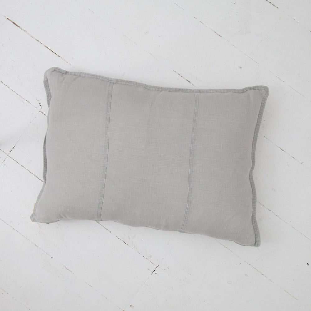 Image of Pre Washed Linen Cushion 40x60 - SILVER GREY