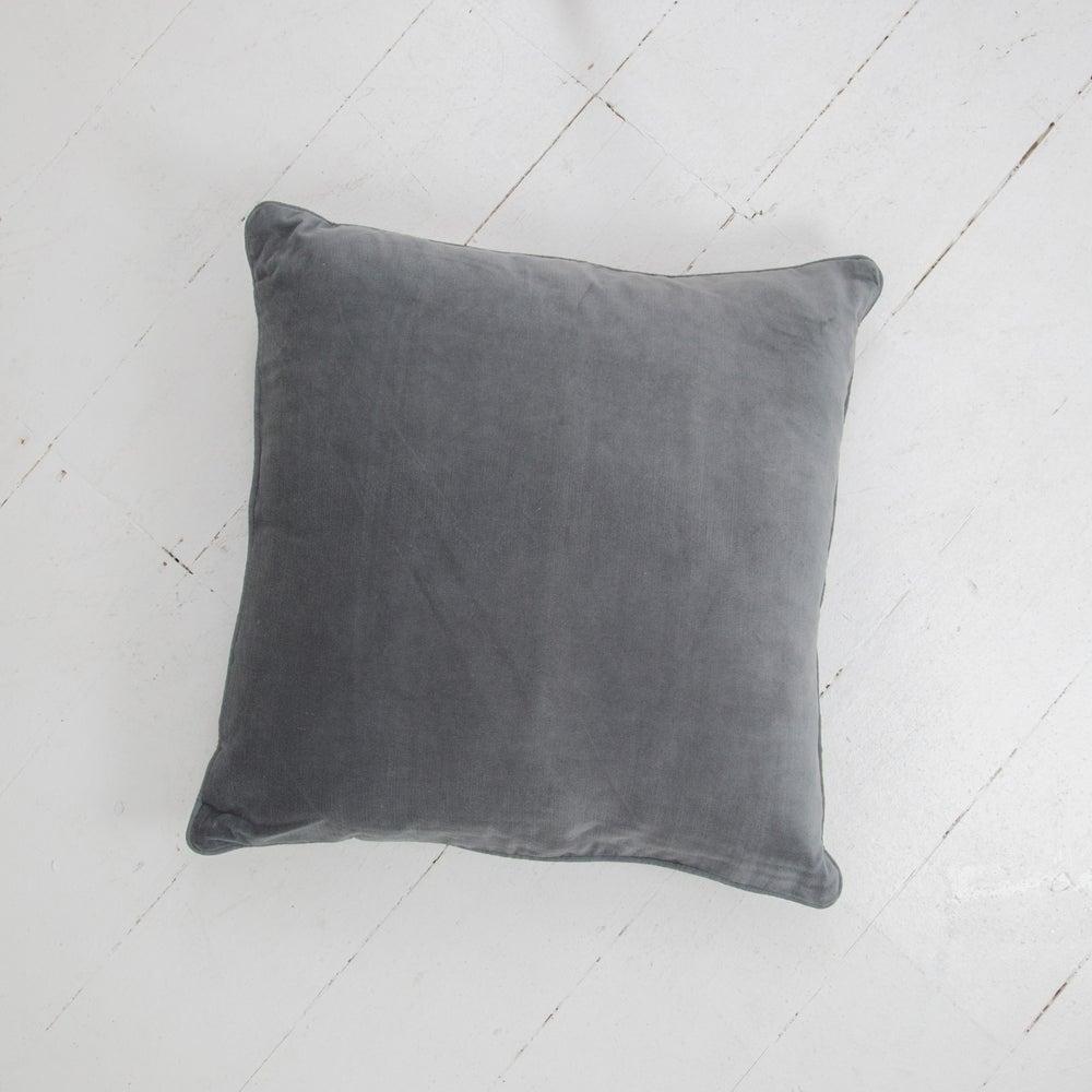 Image of Velvet Cushion 50x50 - SLATE