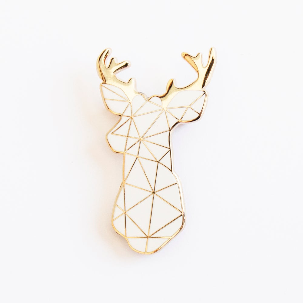 Image of WHITE STAG BROOCH