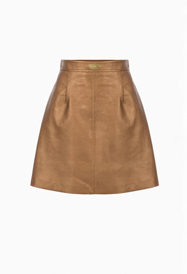 Image of COPPER LEATHER SKIRT