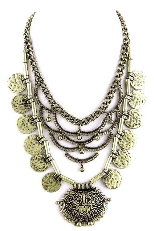 Image of Tiered Tribal Necklace