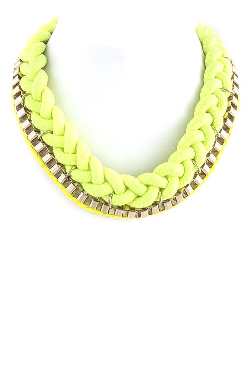 Image of Neon Lights Rope Necklace
