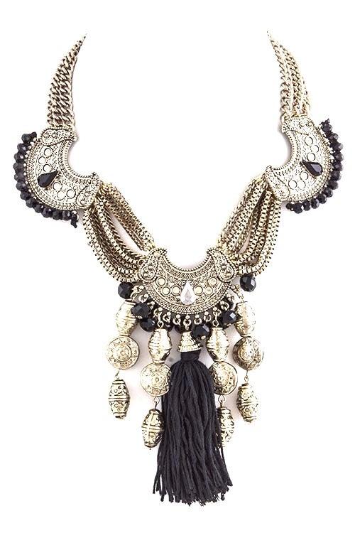 Image of Antique Tribal Tassel Necklace
