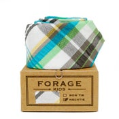 Image of teal plaid {kids necktie} *two left