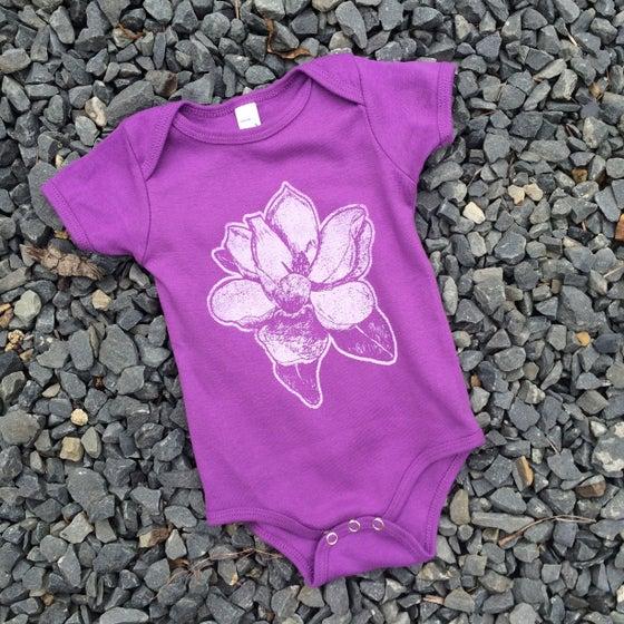Image of Baby Magnolia Onesie in Fuschia