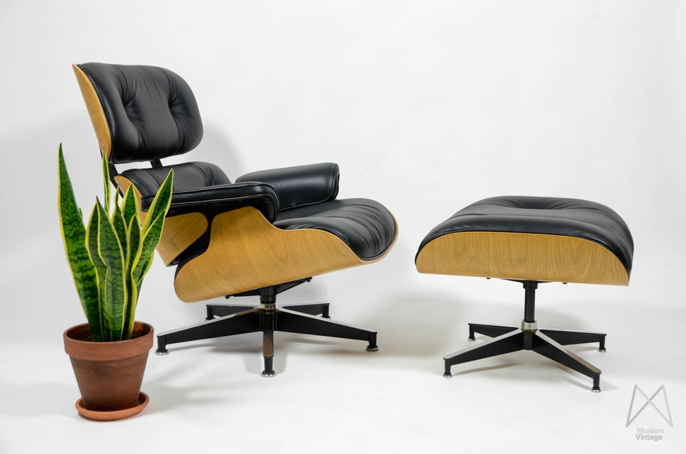 Image of Eames Lounge Chair Ottoman OAK limited edition special custom Herman Miller