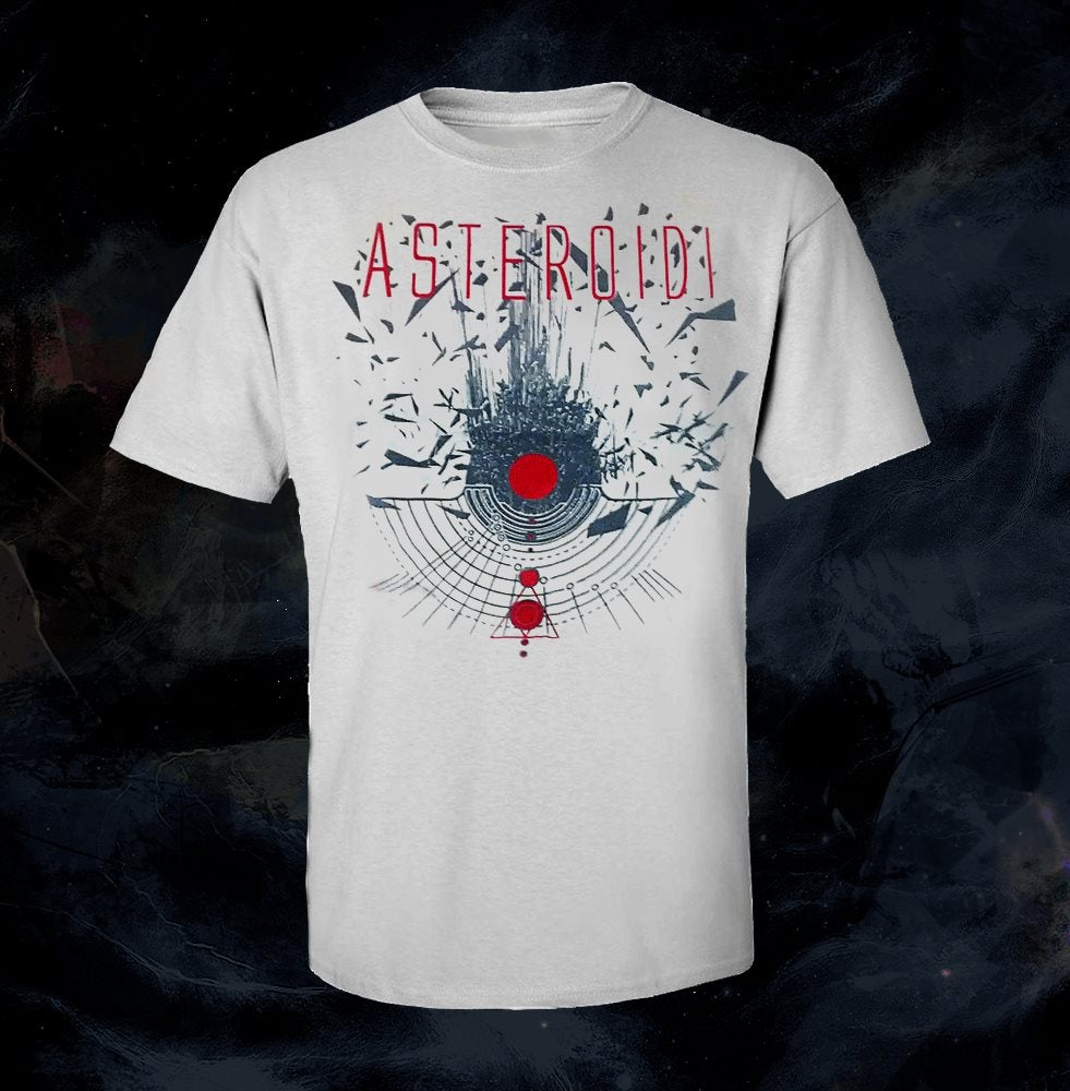 Image of (!!!XL ONLY!!!) T-Shirt Asteroidi (White) + Poster U.M.A. A2 size (BENDED)