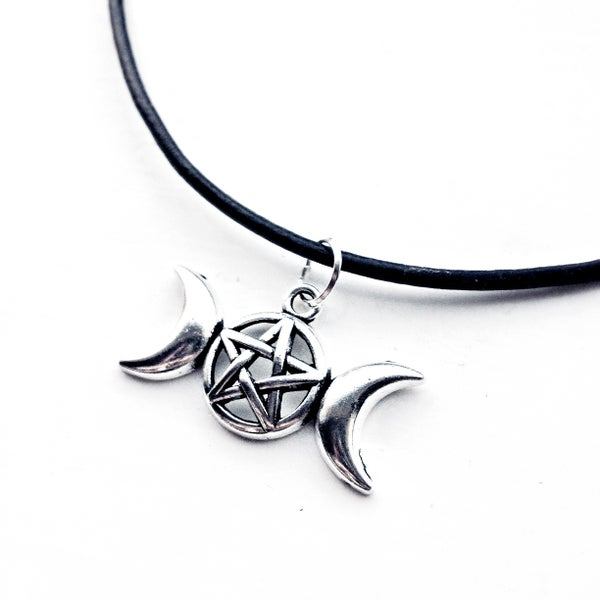 Image of Triple Goddess Cord Choker