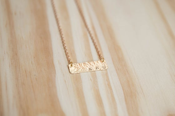 Image of Hammered Gold Bar Necklace