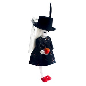 "Image of 'Supernae Black' 14"" CUSTOM/COUTURE Little Apple Doll"