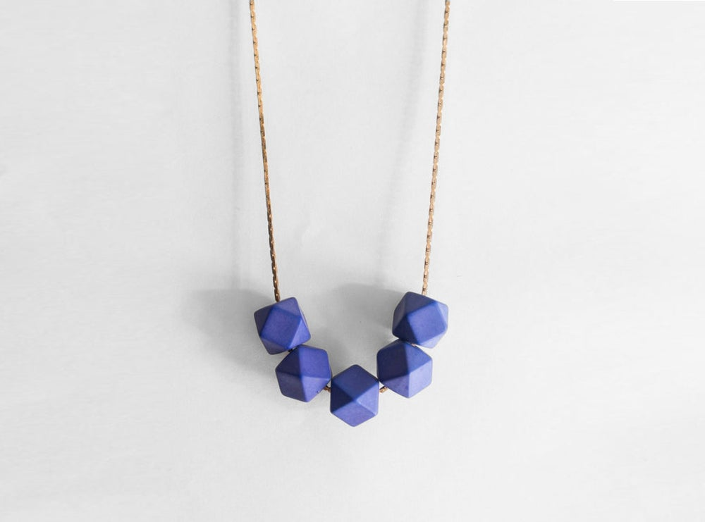 Image of Delta Necklace - Cobalt