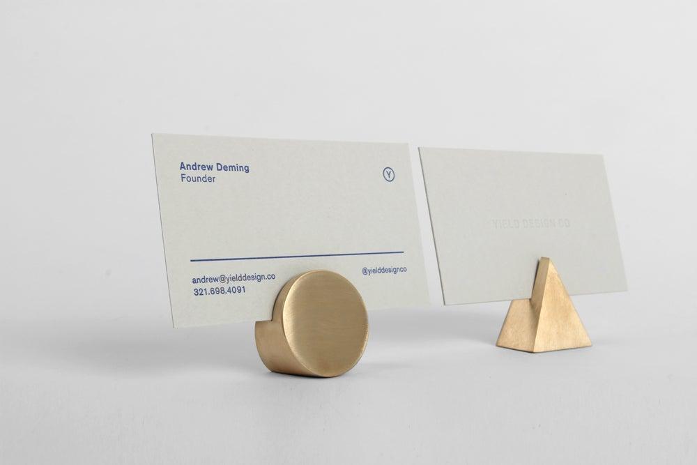 Image of Brass Geo Stand - Triangle