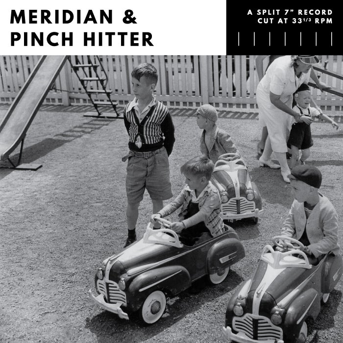 Image of Meridian/Pinch Hitter - split EP (black, clear or clear w/black smoke)