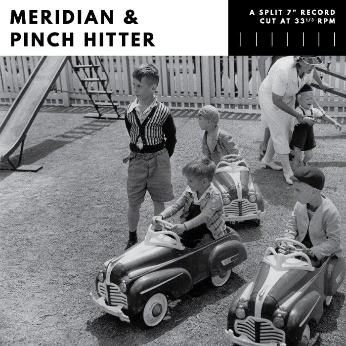 Image of Meridian/Pinch Hitter - split EP (black, clear or clear w/black smoke)