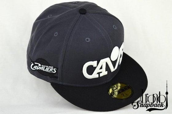Image of CLEVELAND CAVALIERS CUSTOM GREY/BLK/GLOW NEW ERA SNAPBACK CAP