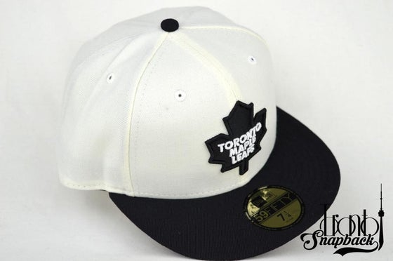 Image of TORONTO MAPLE LEAFS NEW ERA 59FIFTY FITTED HATS (AIR JORDAN WOLF GREY 3S)