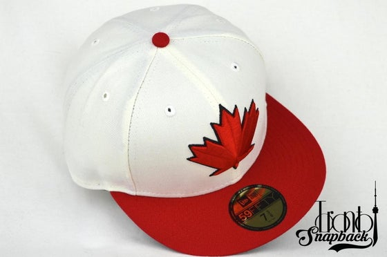 Image of TOR. BLUEJAYS SPRING TRAINING WHT/RED/BLK FITTED CAP