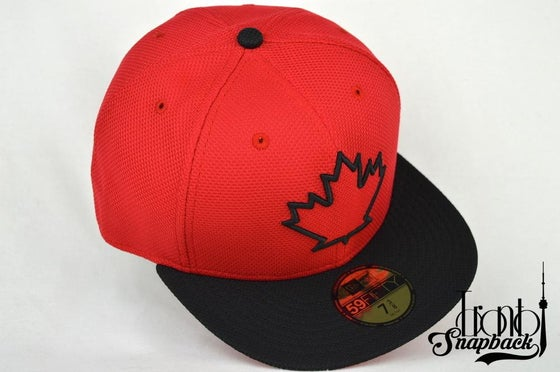 Image of TORONTO BLUE JAYS SPRING TRAINING BLACK & RED NEW ERA FITTED CAP