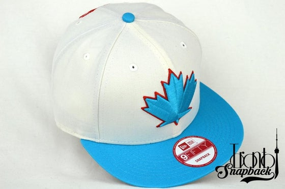 Image of TORONTO BLUEJAYS SPRING TRAINING WHT/TEL/RED 9FIFTY SNAPBACK HAT