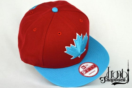 Image of TORONTO BLUEJAYS SPRING TRAINING RED/TEAL SNAPBACK CAP