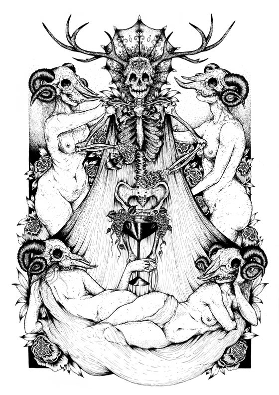 Image of 'Nymphs of Bacchus' A3 Print