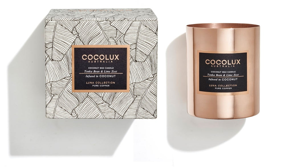 Image of COCOLUX l Tonka Bean & Lime Zest infused in Coconut wax 350g