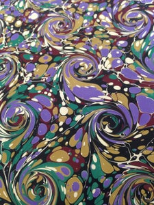 Image of Pattern #9 French curl Marbled Paper