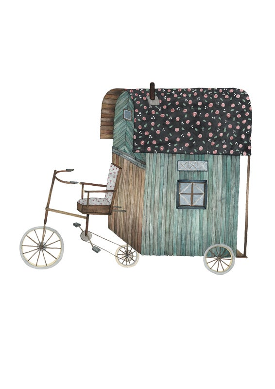 Image of Bike Caravan -print
