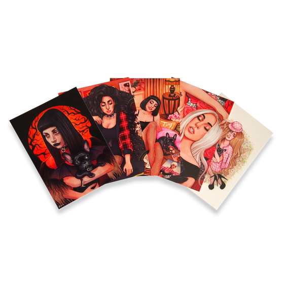 Image of Lady Gaga and Asia Postcards Set of 5