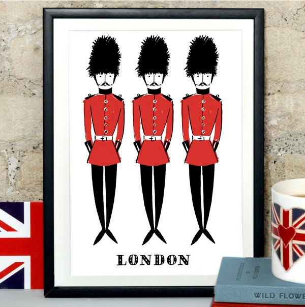Alice Tait 'London Soldiers' Print - Alice Tait Shop