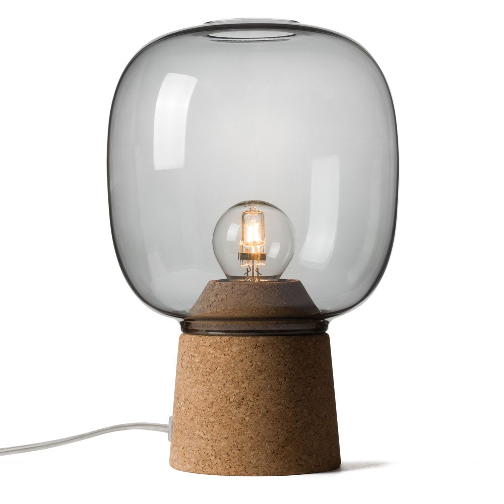 Picia table lamp smoked glass enrico zanolla design studio - Table en verre fume ...