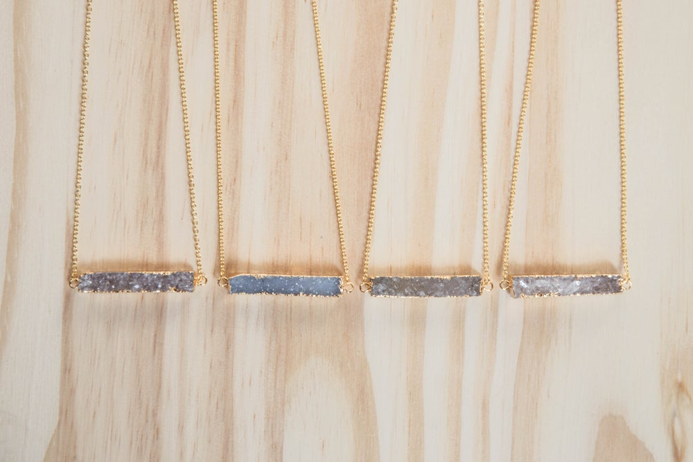 Image of Druzy Bar Necklace