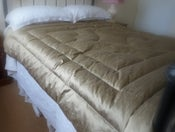 Image of Black/Gold Super King Size Dupion Silk Eiderdown