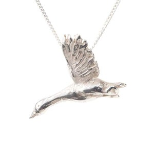 Image of Silver Snow Goose Necklace