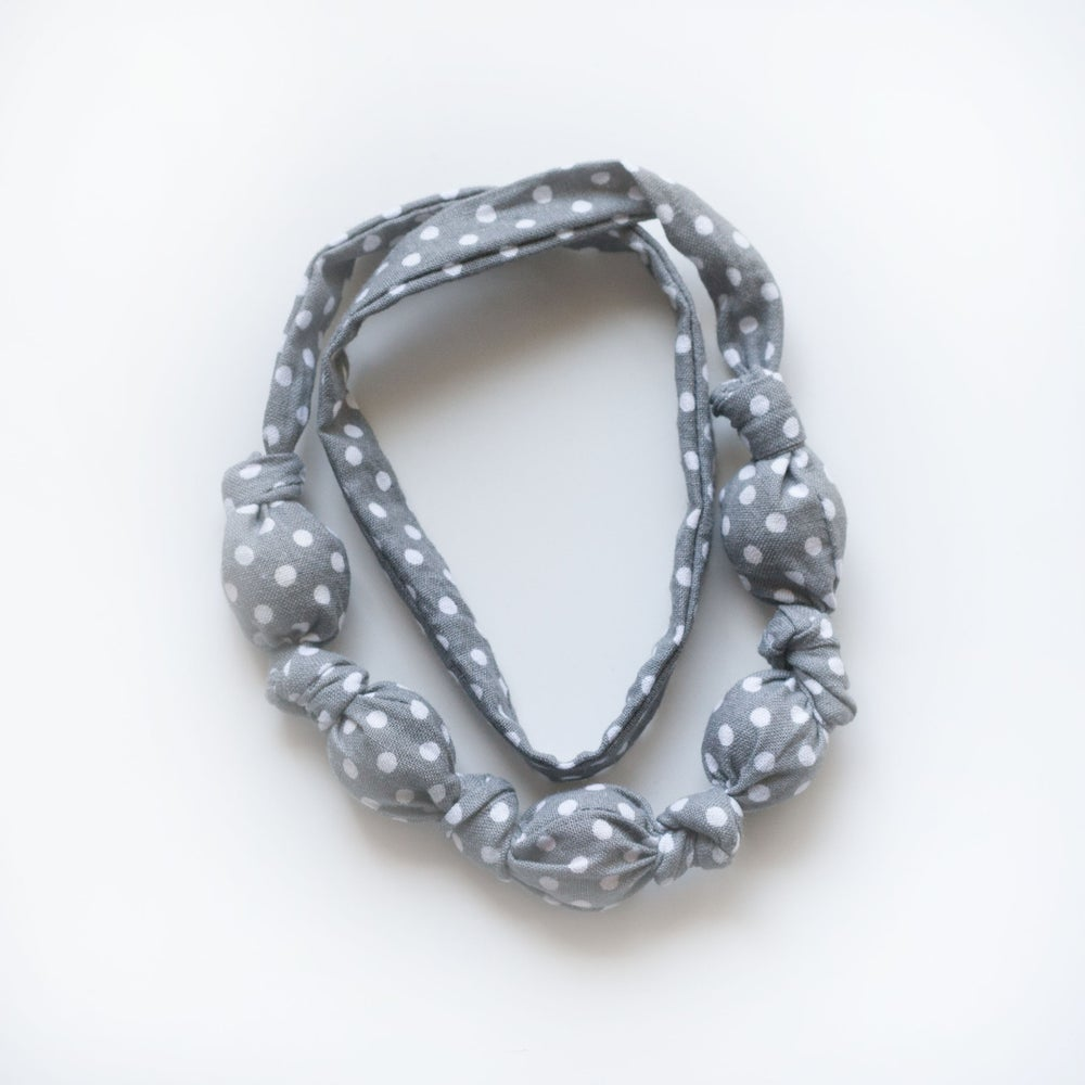 Image of Grey Dot Teething Necklace